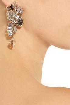 Je T'aime 22-karat gold-plated clip earrings
