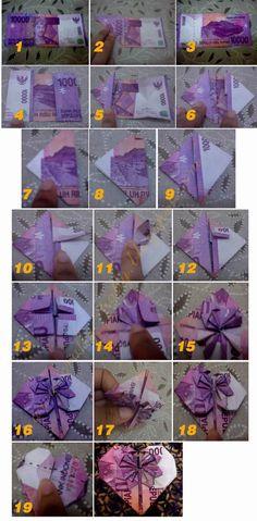 Trendy Ideas For Origami Wedding Gift Diy Paper Origami Star Box, Origami Love, Origami Fish, Useful Origami, Origami Design, Origami Paper, Diy Origami, Origami Heart Instructions, Origami Tutorial