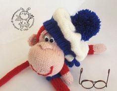 Monkey Sailor knitting pattern knitted roundMonkey by simplytoys13