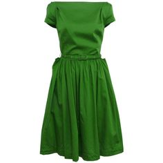 Vivienne Westwood - Anglomania Monroe-33 Green Dress ($50-100) found on Polyvore
