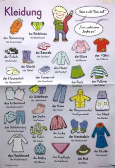 Clothes in German ✈- Education is important for you –. Informations About education arşivleri - Da Study German, German English, Learn German, Learn French, Learn English, Language Logo, Language Quotes, Design Language, German Grammar