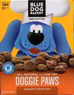 Blue Dog Bakery Doggie Paws Peanut Butter and Molasses Healthy Treats for Dogs * Special dog product just for you. See it now! : Dog treats