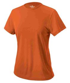 Charles River Apparel Style 2830 Women's Pique Wicking Tee - SweatshirtStation.com #orangeshirt #womenstee #wickingshirt