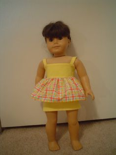 AG Doll Clothes   2 pc. California Cami and by DEBBIESDOLLBOUTIQUE, $15.00