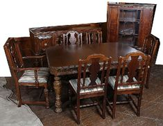 BEAUTIFUL VINTAGE 1930s JACOBEAN STYLE DINING ROOM SET Jacobean Dining Roo
