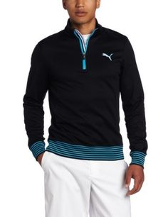 Puma Golf Men's 1/4 Zip Popover Shirt, Black, X-Large by PUMA. $63.99. Stay warm with this shirt's fleece blend and comfy collar.
