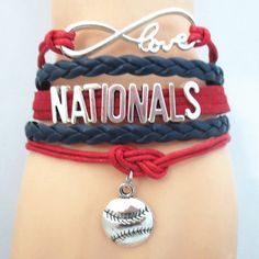 Infinity Love Washington Nationals Baseball - Show off your teams colors! Cutest Love Washington Nationals Bracelet on the Planet! Don't miss our Special Sales Event. Many teams available. www.DilyDalee.co