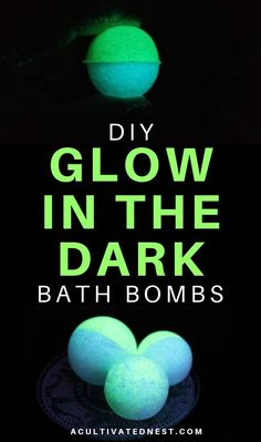 DIY Glow in the Dark Bath Bombs- If you want to use a really fun bath bomb, you need to make these DIY glow in the dark bath bombs! Theyre so easy to make! Plus, they make a wonderful homemade gift! Beauty Products Gifts, Homemade Beauty Products, Bath Products, Natural Products, Best Bath Bombs, Making Bath Bombs, Bomb Making, Halloween Bath Bombs, Bath Bomb Molds