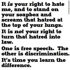 Free Speech vs. Discrimination. the Democrats, the IRS and the entire Obama Administration need to read the Constitution