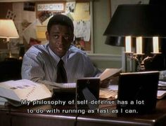 My philosophy of self-defense has a lit to do with running as fast as I can.