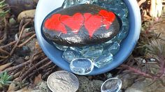 Painted rock- Hearts