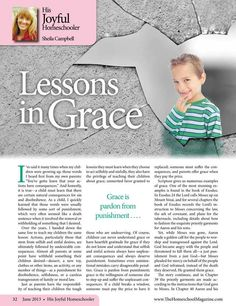 Lessons in Grace The Homeschool Magazine - June 2013 - Page 32-33