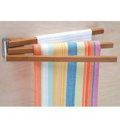 Teak Wood Swing Arm Towel Bar Towel Rack Bathroom Towel