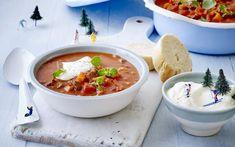Goulash, Gazpacho, Chana Masala, Cheeseburger Chowder, Food To Make, Salsa, Snacks, Healthy, Ethnic Recipes