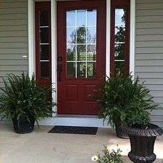 The front door leading to inside your home creates the ultimate statement! Country Redwood Paint by Benjamin Moore can give you that bold statement and RR Styles can help you create!! Contact us at info@rrstyles.com. #Loveboldred #BenjaminMoore #RRStyles Photo by Kristin Williams