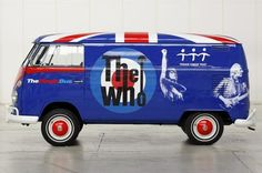 """""""The Who"""" Blue Volkswagen Bus"""