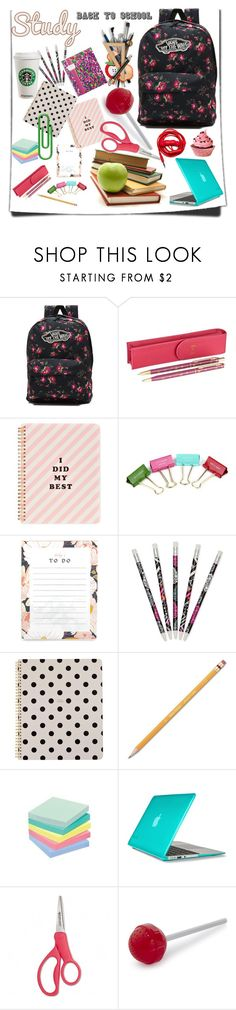 """new start"" by jelena-topic5 ❤ liked on Polyvore featuring Vans, Harrods, ban.do, Kate Spade, Vera Bradley, Paper Mate, Speck, Fred, Urbanears and backpack"