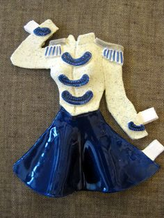 ceramic majorette uniform like what my grandmother wore...