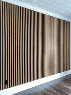 Wood Slat Wall, Wood Slats, Decorative Wall Panels, 3d Wall Panels, Removing Baseboards, Types Of Plywood, Faux Marble Countertop, Simple Bed Frame, Porch Doors