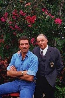 Frank Sinatra & Thomas Magnum (Tom Selleck)  1987