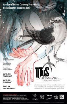 Subplot Studio customizable poster design—   Titus Andronicus by Allyson Haller