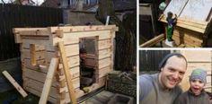 Na záhrade postavil domček na hranie pre svojho syna. Inšpiroval sa tradičnými chalupami