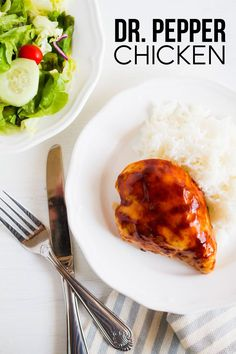 Food: Dr. Pepper Chicken - an easy dinner recipe made with just a few ingredients from thirtyhandmadedays.com