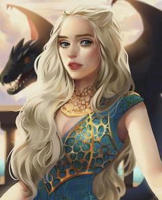 Fantasy Magic, Fantasy Girl, Fantasy Dragon, Dragon Art, Daenerys Targaryen Art, Khaleesi, Deanerys Targaryen, Art Game Of Thrones, Character Inspiration