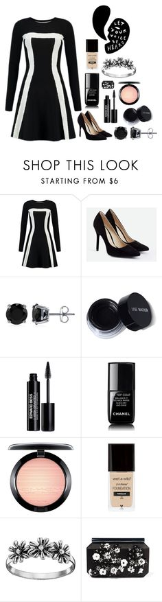 """""""Let your voice be heard"""" by dark-jewel ❤ liked on Polyvore featuring JustFab, BERRICLE, Edward Bess, Chanel, MAC Cosmetics, Primrose and Oscar de la Renta"""