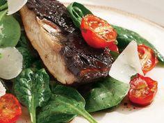Roasted Portabella & Spinach Salad