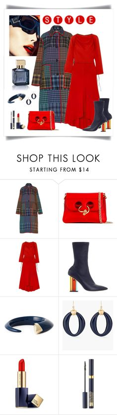 """Marni Multicolor Plaid Coat Look"" by romaboots-1 ❤ liked on Polyvore featuring J.W. Anderson, Marni, Zimmermann, Shaun Leane, Chico's and Estée Lauder"