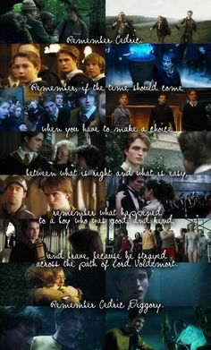 Cedric Diggory T_T the first character in Harry Potter series that made me cry. Harry Potter Sad, Harry Potter Quotes, Harry Potter Universal, Dumbledore Quotes, Goblet Of Fire, Mischief Managed, Robert Pattinson, Fantastic Beasts, Hogwarts