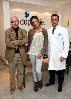 Julieta Betatis de Depilogie    Paula Chavez en Depilogie junto a Eric Schindler y el Dr. Martín Lerner