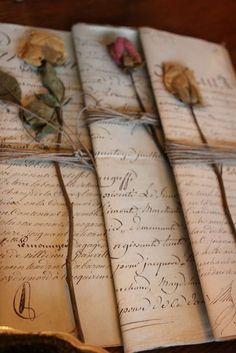 50 Super Ideas for wedding flowers vintage ana rosa Old Letters, Handwritten Letters, Cursive, Letter Writing, Mail Art, Vintage Love, Vintage Books, Vintage Paper, Vintage Art