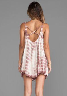 JEN'S PIRATE BOOTY Nuevo Tinkerbell Tie Dye Mini Dress in Natural & Amethyst LTD - Jen's Pirate Booty