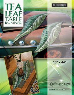 Tea Leaf Table Runner Pattern