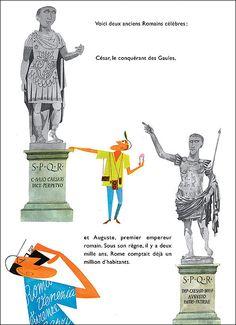 """This is Rome"" - M. Sasek http://static.fnac-static.com/multimedia/images_produits/Zoom_Planche_BD/9/6/9/9782203021969_5.jpg"