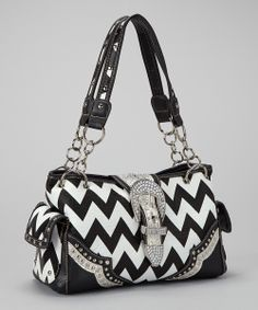 Chevron Buckle Bag.
