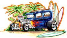 Vintage Hot Rod Art   Thread: Prm heavy weight match - nyp vs kris diaz - drawing cars