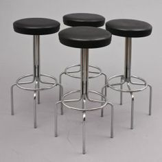 chairs 70s bar stool, chrome (no. 3287) Karlsruhe Velvet-Point