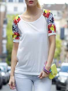 Casual Scoop Collar Short Sleeve Letter Printed T-Shirt For Women from 13.20$ by SAMMYDRESS