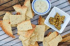 tahini and wholegrain mustard crackers @ eat drink paleo - yum!