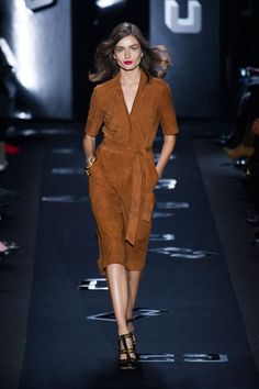 Pin for Later: Take a Look Back at DVF's Style History Fall 2013 Diane gave us a new wrap dress to love — in suede.