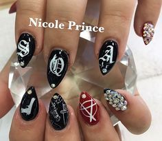 Thank you @princenails for the amazing nails❤️ you did such an amazing job! Exactly what I wanted ❤️ #sonsofanarchy #nails #nicolerocks #roseville