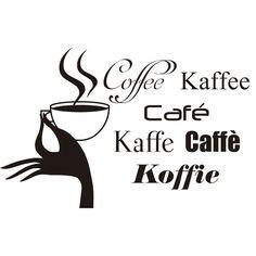 Vinilo decorativo cafe idiomas