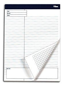 Amazon.com : TOPS Docket Gold Project Planning Pad, 8-1/2 x 11-3/4 Inches, Perforated, White, Project Rule, 40 Sheets per Pad, 4 Pads per Pack (77102) : Writing Paper : Office Products