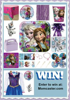 Frozen Birthday Party Pack & Princess Anna Dress Giveaway - Giveaway Promote Open to: United States  Ending on: 05/24/2014