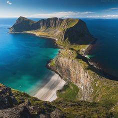 Arctic Paradise, Lofoten, Norway #EarthPix Photo by @DanielKordan #Padgram