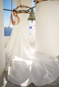 eva lendel 2017 bridal short sleeves v neck heavily embellished bodice romantic pretty a  line wedding dress sheer v back royal train (sidny) bv