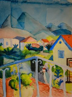 August Macke - St Germain near Tunis, 1914 at Lenbachhaus Art Gallery Munich Germany (by mbell1975)